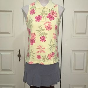Chistropher & Banks Yellow Floral Sleeveless Top